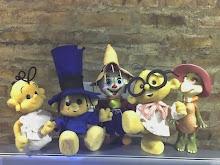 Mas muñecos de goma espuma , Trapito y Manuelita