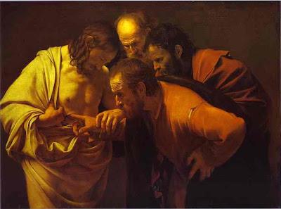 Saint-Thomas tripotant Jésus