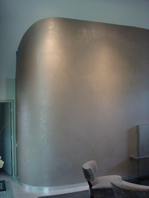 Laurell banner faux painting silver wall - Silver metallic wall paint ...