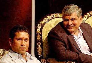 Sachin Tendulkar and Shashank Manohar