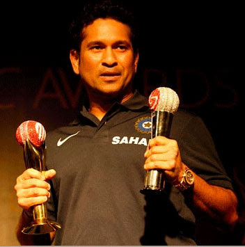 Sachin tendulkar with ICC Awards-2010