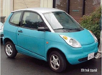 Th!nk Lithium-Ion Battery Powered Car