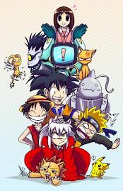 kero, Lufi, Inuyasha, Naruto, Goku, pikachu, bleach, etc.