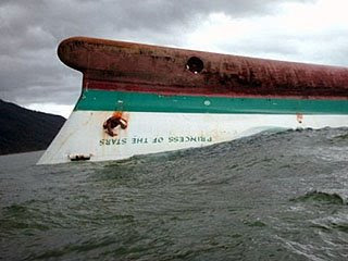 Click to read on Inquirer's special report on Typhoon Frank. Capsized MV Princess of the Stars. Taken from GMANews.TV