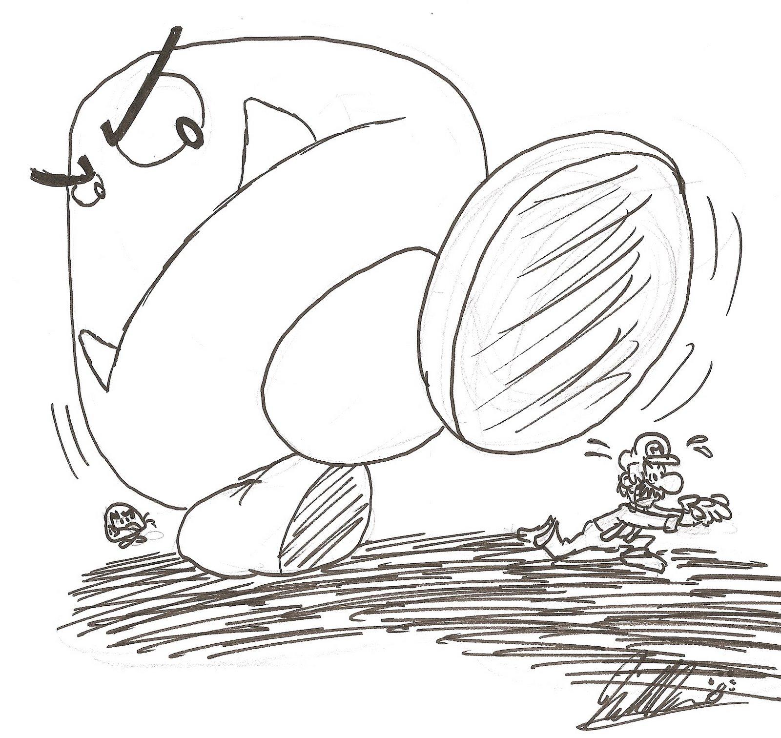 8 Bit Luigi Super Mario Bros Coloring Pages Sketch