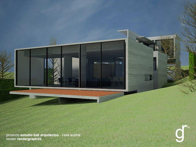 Rendergraph3d proyecto estudio bak arquitectos casa austral - Estudio 3 arquitectos ...