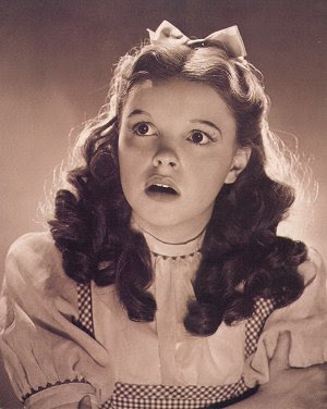 Judy Garland as Dorothy Gale in The wizard of Oz