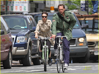 Rachel McAdams and John Lucas Bicycling