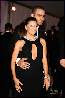 Eva Longoria and Tony Parker at the MET