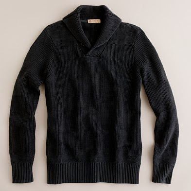Black Shawl Collar Pullover