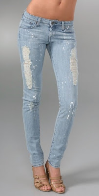 Zipper Pocket Skinny Jeans