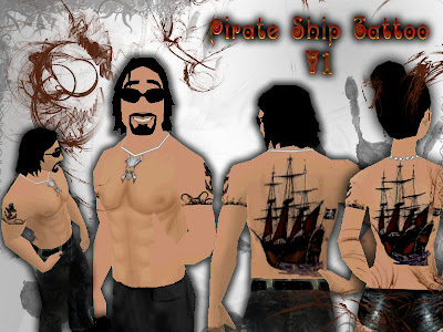 ship tattoo. pirate ship tattoos.