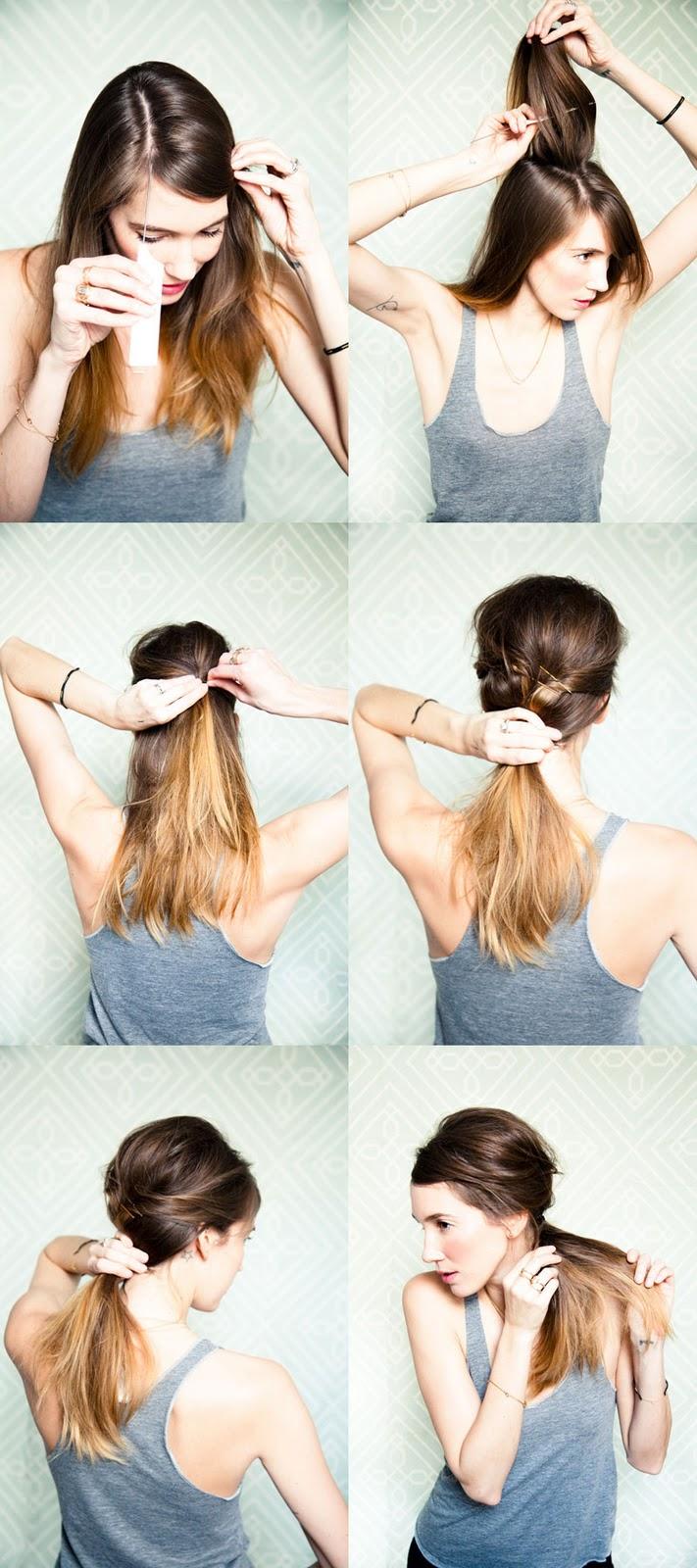Хвосты на средние волосы своими руками на каждый день