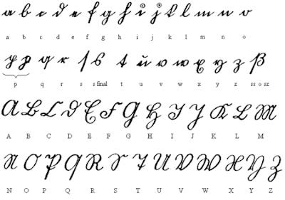 abecedario manuscrito