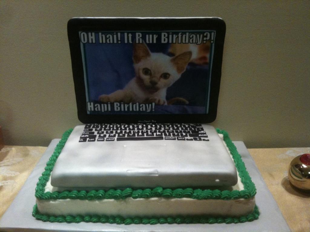 Draw A Birthday Cake With Keyboard