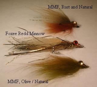 3 Olive /& Orange Clouser Minnow Flies Saltwater Trout Smallmouth Bass Bonefish
