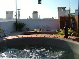 jacuzzi en la terraza