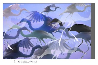 Garzas en azul, de Salvador Manzanera