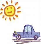 coche al sol