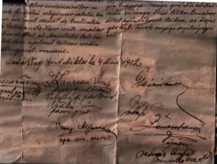 Manuscris despre existenta biserici greco-catolice(1902)