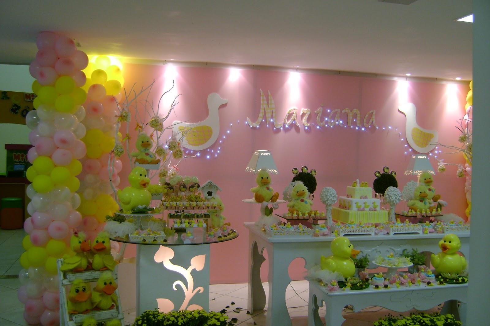 decoracao festa infantil azul e amarelo : decoracao festa infantil azul e amarelo:Blog da Yupii Fest: Patinhos rosa e amarelo para Mariana