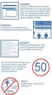 Internet safety guidelines (humor)