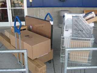 Cart full of Ikea loot