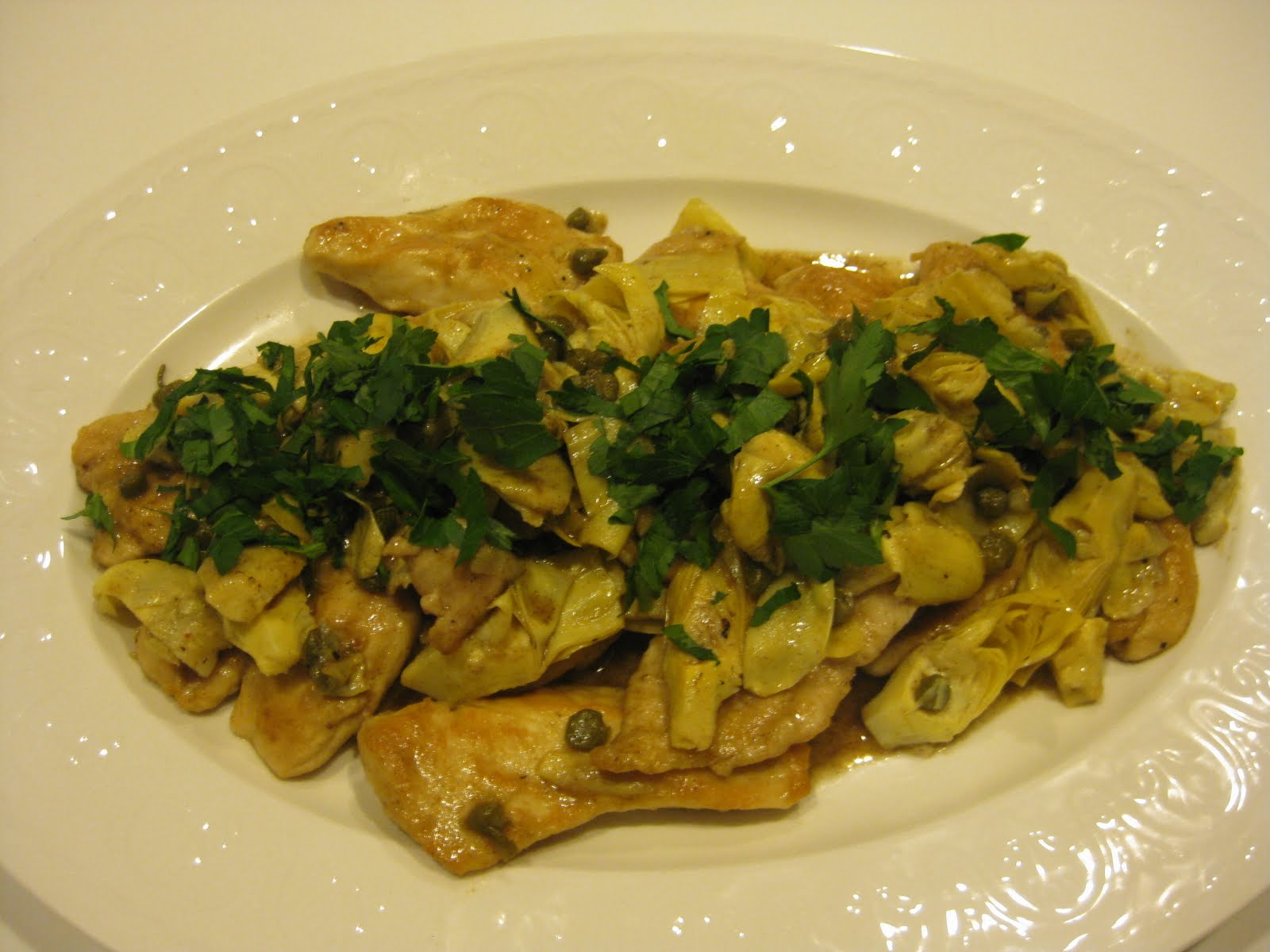 EVERYDAY SISTERS: Chicken with Artichokes and Capers