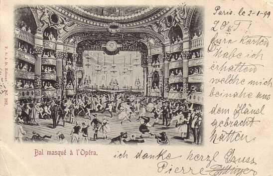 Последняя часть открыток Оперы Гарнье.  Сцена и зрительный зал.
