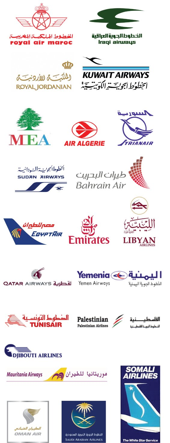 International airline logos