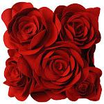 almofada rose red