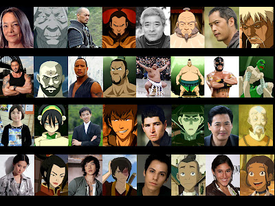 Night Shyamalan's cast for The Last Airbender movie, so I chose my own.