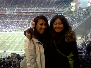 Haizel & I at our 1st Seahawks game!