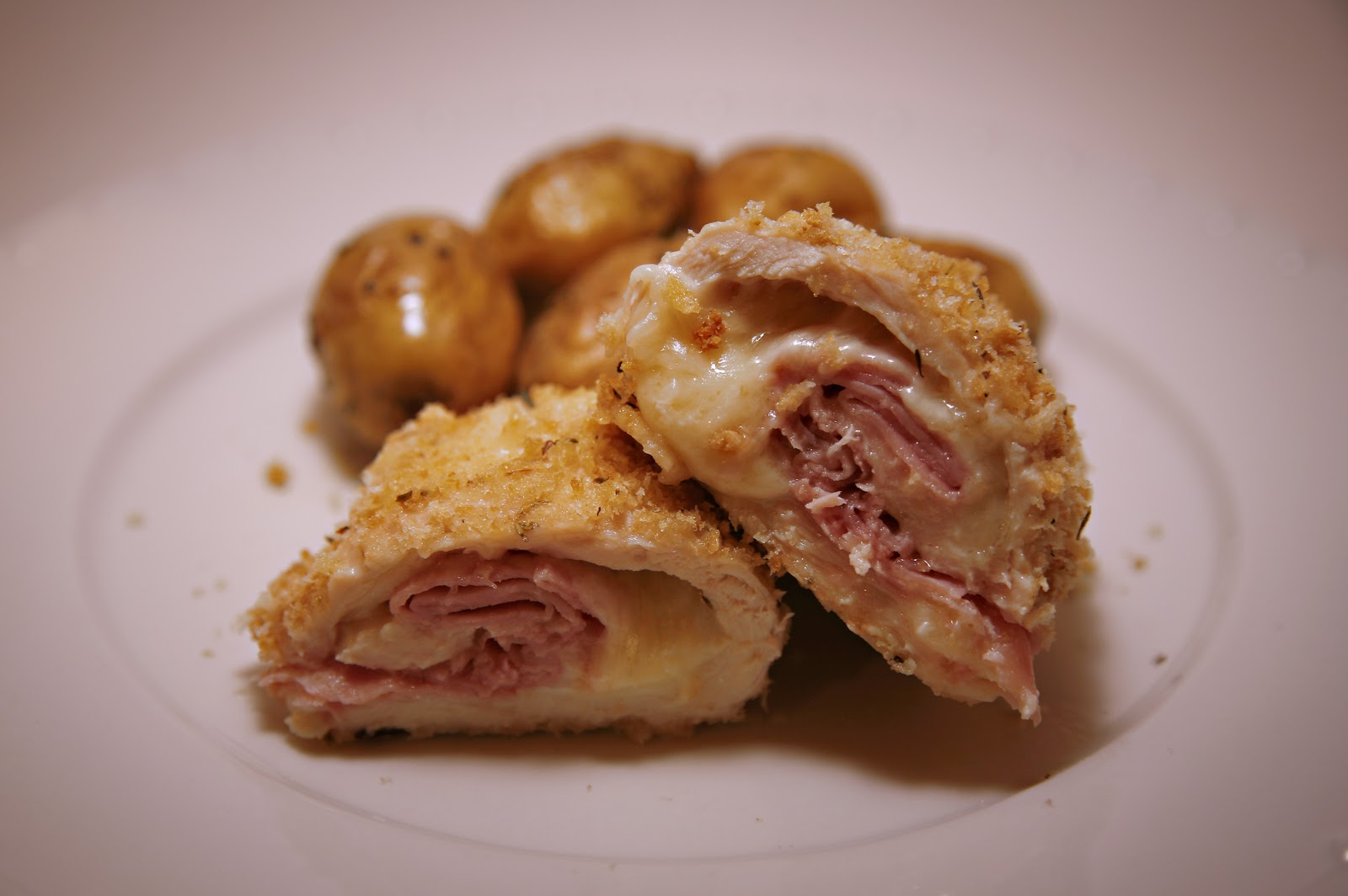 This recipe for Baked Chicken Cordon Bleu is a lighter, homemade ...