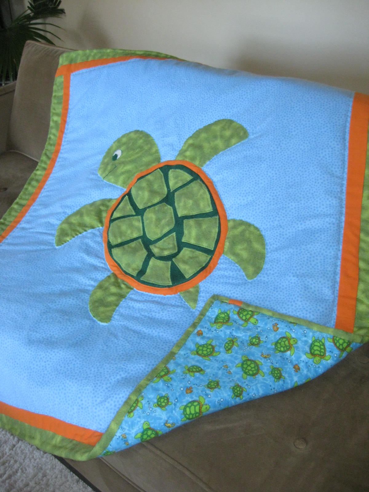 Crafters In The Sky Turtle Theme Baby Quilt