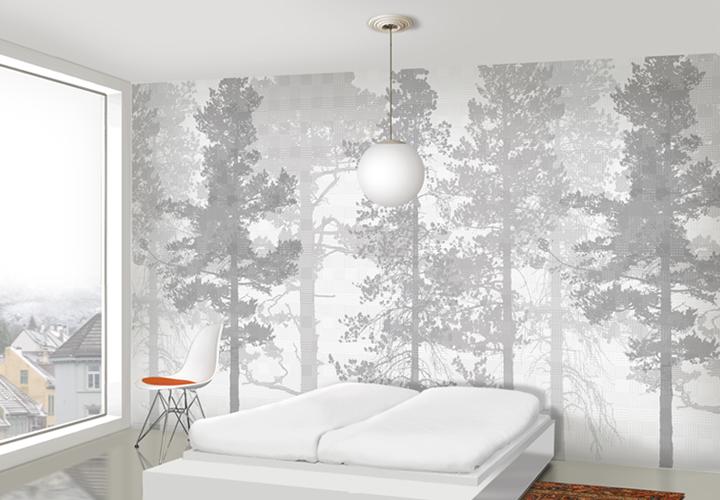 min stil: Natur p? veggen