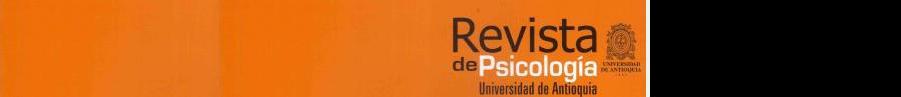 Revista de Psicología Universidad de Antioquia. ISSN2145-4892