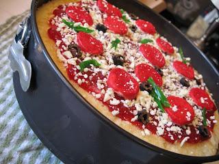 Cake Ice Cream Pizza : Vivian s Blog-o-rama: Pizza Ice Cream Cake for Jeff!