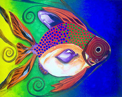 Fishy2me fish art for Paintings of fish