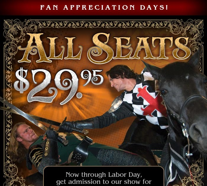 Penny Pinching Pixie: All Seats at Medieval Times $29.95 until 9 ...