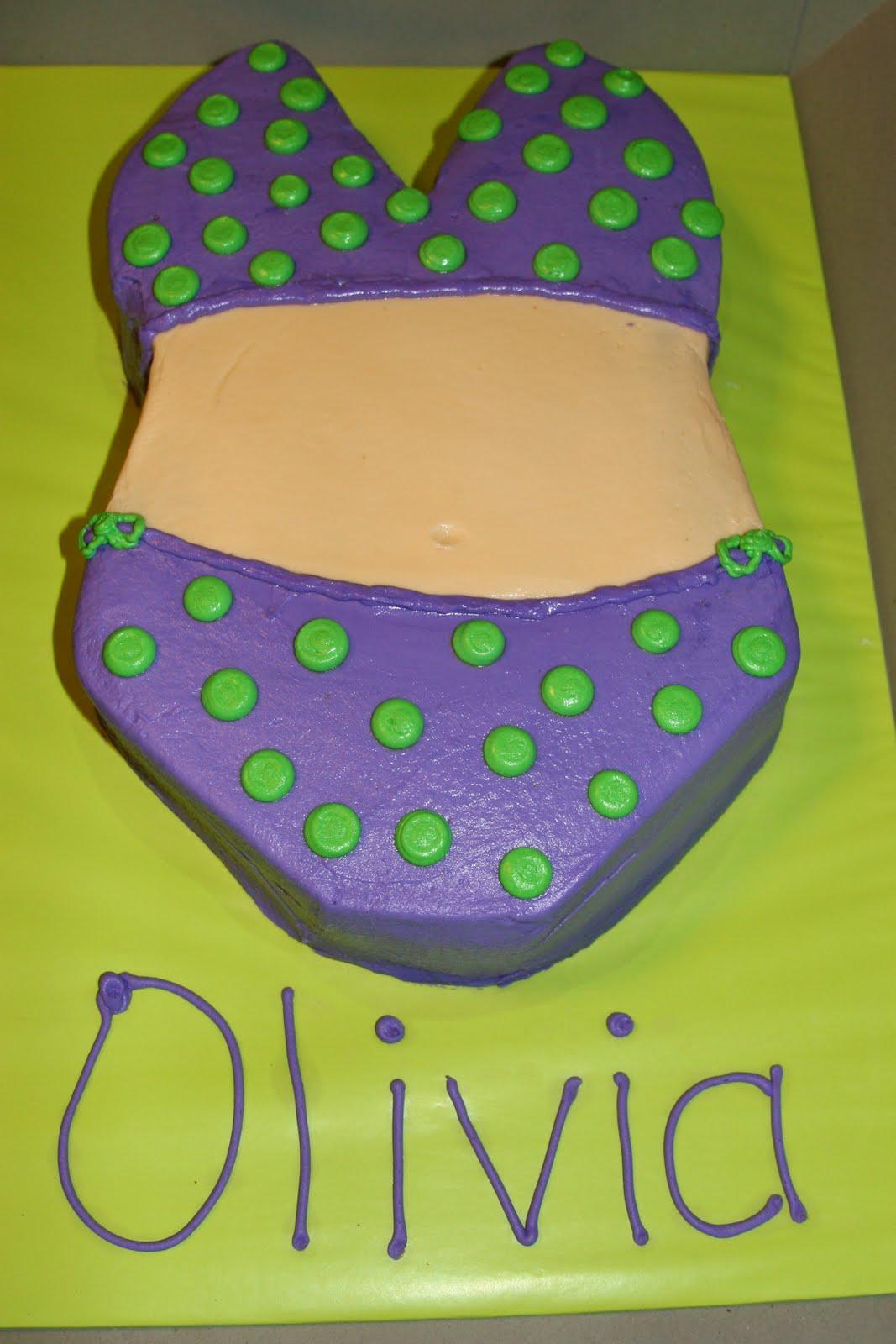 The Cake Box Girls Polka Dot Bikini Cake W Flower Cookies