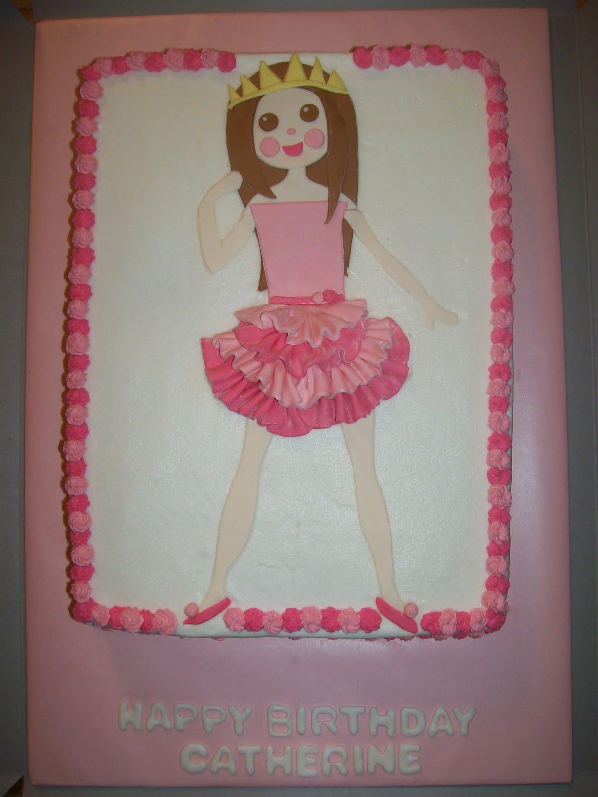 The Cake Box Girls Ballerina Birthday Cake