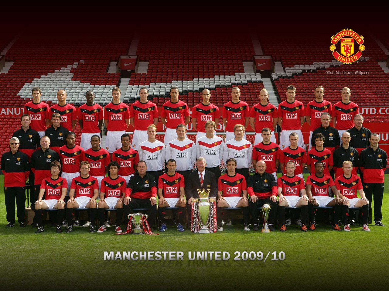MANCHESTER UNITED FC: Squad Manchester United 2007/2010