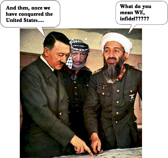 osama in laden vs hitler. Osama Bin Laden v.s Adolf