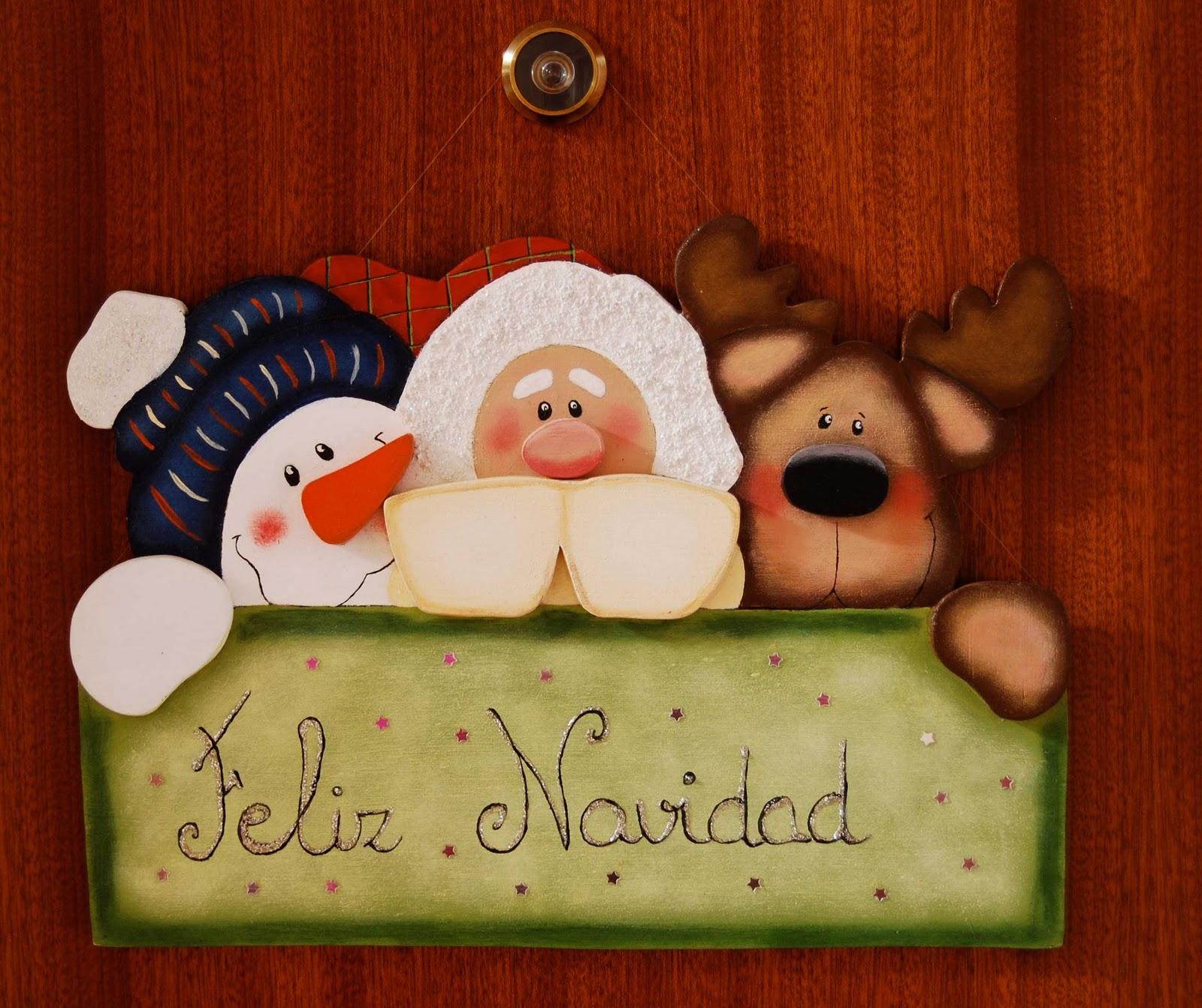18 de septiembre y lleg la navidad - Adornos navidenos de madera ...