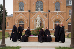 Monks at Assumption Abbey