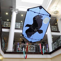 Attleboro Library Poe The Raven kite photo