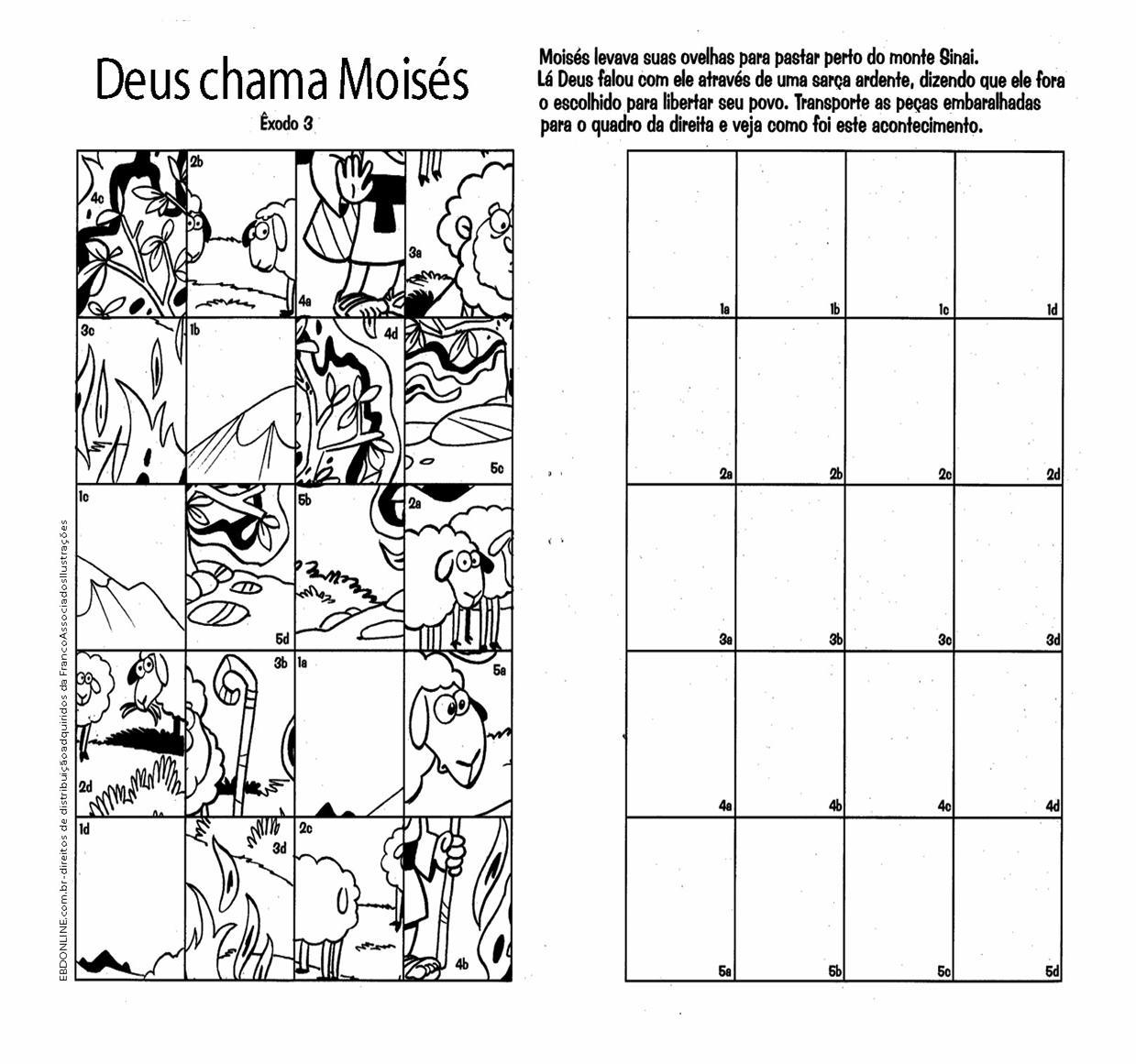 Famosos Moisés e os Dez Mandamentos – Sou Catequista QU07