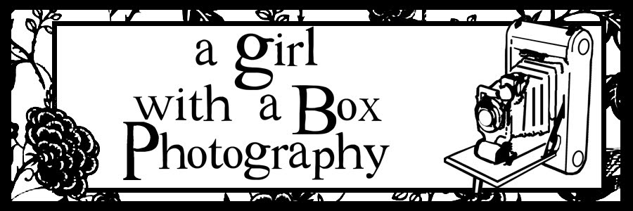 A girl with a box photography