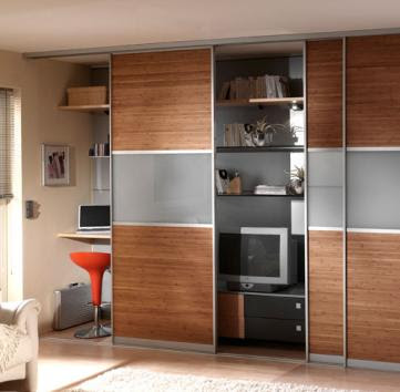 Bamboo wardrobe with sliding doors